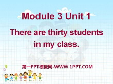 《There are thirty students in my class》PPT课件