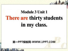 《There are thirty students in my class》PPT课件3