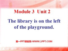 《The library is on the left of the playground》PPT课件