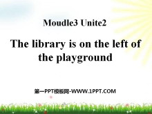 《The library is on the left of the playground》PPT课件2