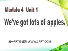 《We've got lots of apples》PPT课件3