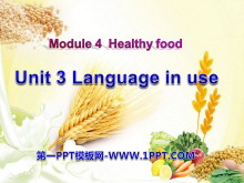 《Language in use》Healthy food PPT�n件