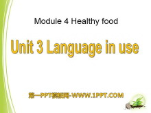 《Language in use》Healthy food PPT�n件2