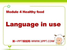 《Language in use》Healthy food PPT�n件3