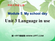《Language in use》My school day PPT�n件3