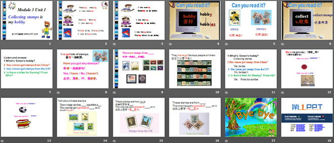 《Collecting stamps is my hobby》PPT课件3