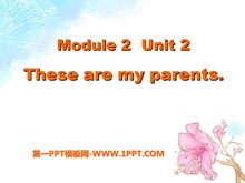 《These are my parents》PPT课件3