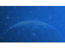 四张蓝色抽象科技幻灯片背景图片