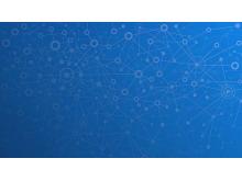 点线链接的抽象PPT背景图片