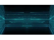 绿色光线空间科技PPT背景图片