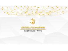 金色企业宣传PPT模板下载
