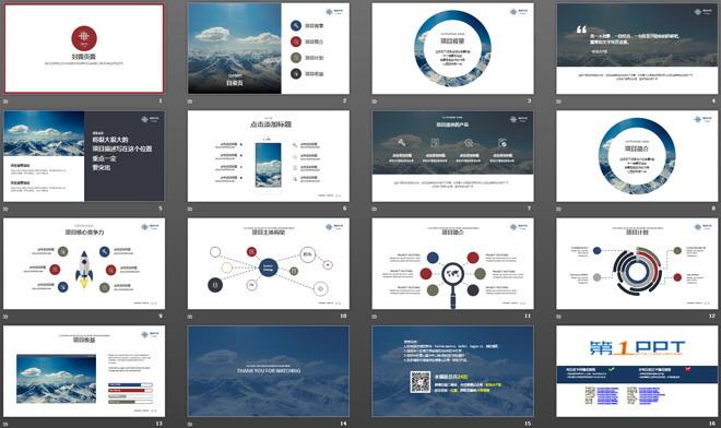 简洁图片排版风格的融资报告PPT模板