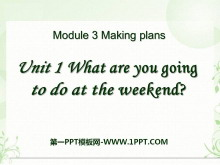《What are you going to do at the weekends?》Making plans PPT课件5