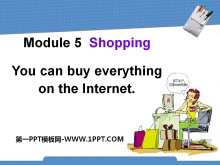 《You can buy everything on the Internet》Shopping PPT课件