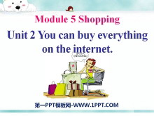 《You can buy everything on the Internet》Shopping PPT课件4