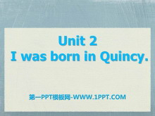 《I was born in Quincy》my past life PPT课件2