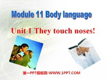 《They touch noses》Body language PPT�n件2