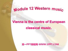 《Vienna is the centre of European classical music》Western music PPT课件2