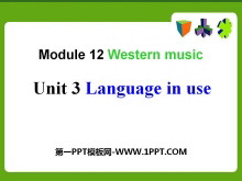 《Language in use》Western music PPT�n件2