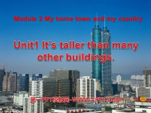 《It's taller than many other buildings》My home town and my country PPT课件