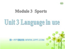 《Language in use》Sports PPT课件