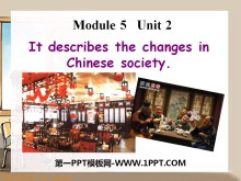《It descibes the changes in Chinese society》Lao She's Teahouse PPT课件