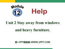 《Stay away from windows and heavy furniture》Help PPT�n件
