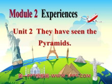 《They have seen the Pyramids》Experiences PPT课件