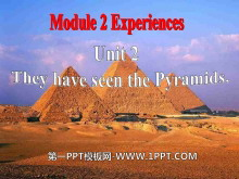 《They have seen the Pyramids》Experiences PPT课件2