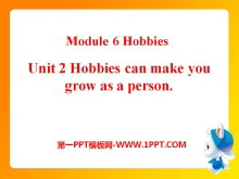 《Hobbies can make you grow as a person》Hobbies PPT课件2