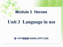 《Language in use》Heroes PPT课件