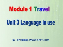 《Language in use》Travel PPT课件2