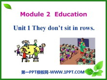 《They don't sit in rows》Education PPT课件