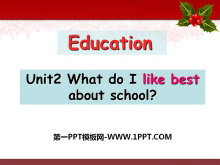 《What do I like best about school?》Education PPT课件