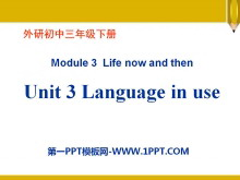 《Language in use》Life now and then PPT课件3