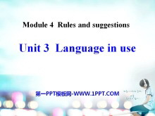 《Language in use》Rules and suggestions PPT课件2