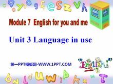 《Language in use》English for you and me 必发88课件