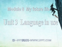 《Language in use》My future life 必发88课件
