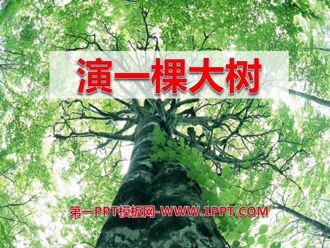 《演一棵大树》ppt课件