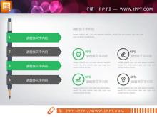 绿色扁平化PPT图表整套下载