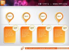 橙色微立体工作总结PPT图表免费下载