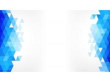 蓝色多边形背景的商务幻灯片背景图片