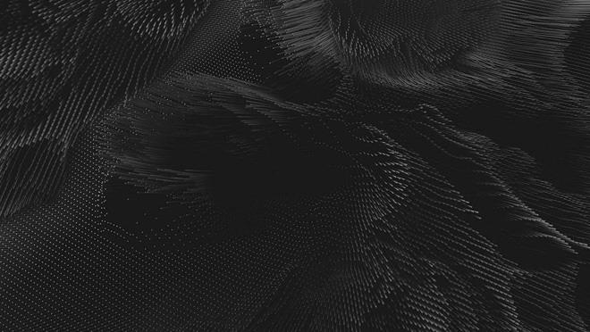 黑色抽象点阵波浪PPT背景图片