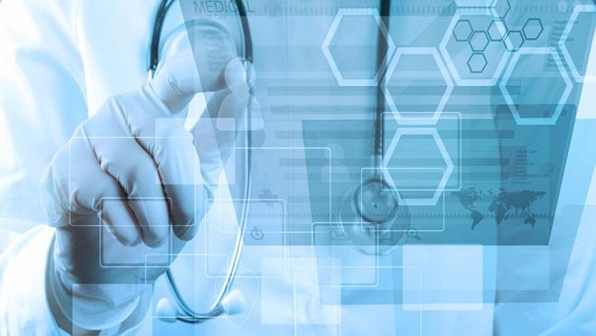 带有科技感的医疗医学ppt背景图片