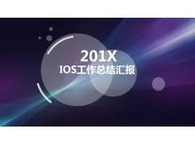 紫色IOS半透明�邮降墓ぷ骺��YPPT模板
