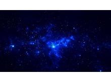 蓝色深邃唯美星空幻灯片背景图片