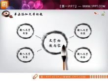 动态水墨中国风PPT图表