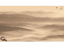 淡雅褐色水墨中国风PPT背景图片