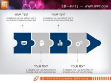 深蓝色动态商务PPT图表免费下载
