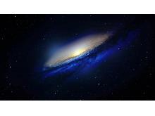 唯美蓝色银河系PPT背景图片